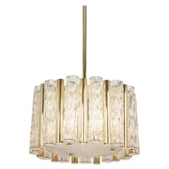 Petite Pendant Light in Brass Drum Form by Kaiser, Germany, 1960s
