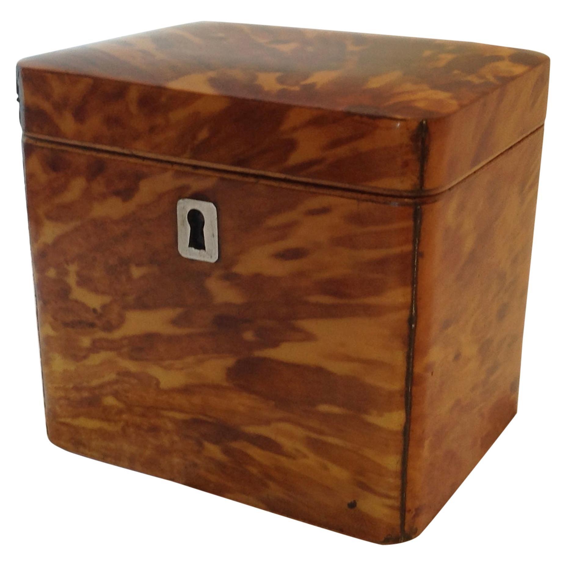 Victorian Trading Co Tea Caddy Wood Box