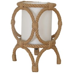 Petite Rope Lantern Table Lamp by Audoux-Minet