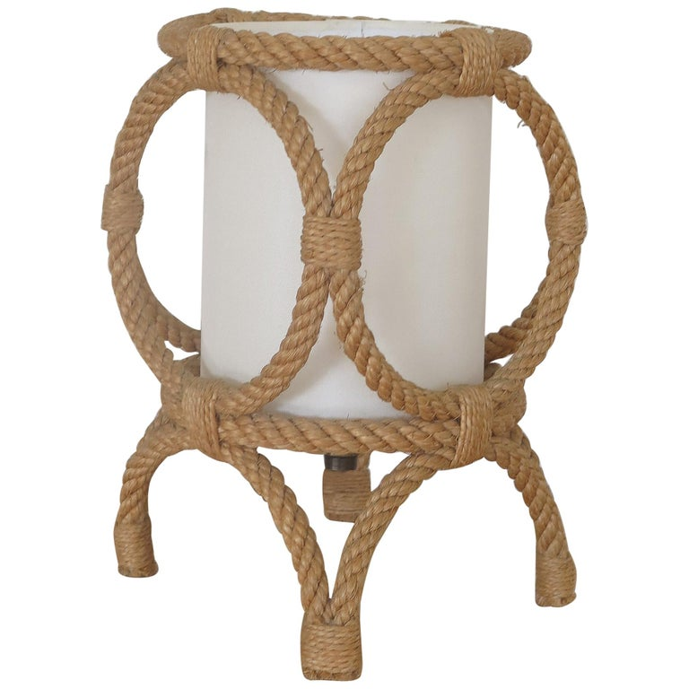 Petite Rope Lantern Table Lamp by Audoux-Minet For Sale