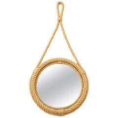 Petite Rope Wall Mirror by Audoux Minnet, France, 1960s