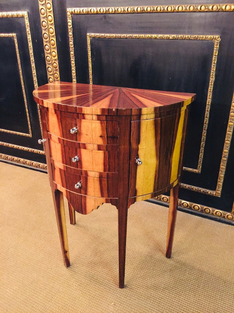 Art Deco Petite Semicircular Commoder in Louis Seize Style For Sale