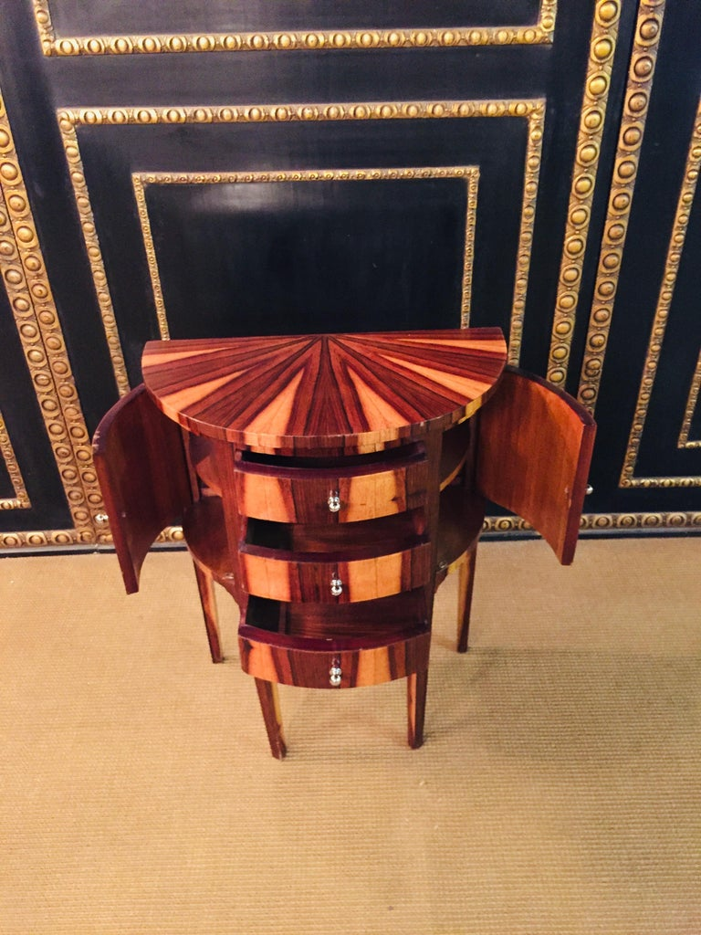 Palisander Petite Semicircular Commoder in Louis Seize Style For Sale