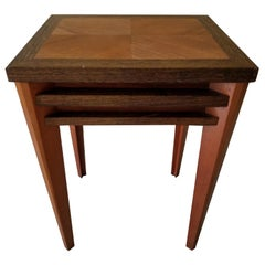 Sam Maloof Petite Side End Table Stand Solid Wood Marquetry Studio Piece 1989