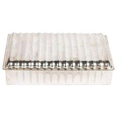Petite, Silver, Art Deco Box