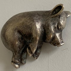 Petite Silver Piggy Paper Weight