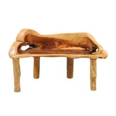 Petite Sized Teak Hardwood Bench