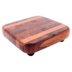 Petite Solid Teak Danish Modern Butcher Block Cutting Board