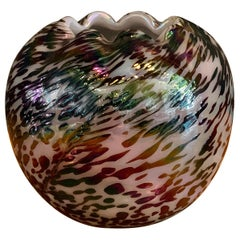 Petite Speckled Hand Blown Glass Vase