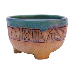 "Petite Stoneware ""Tree of Life"" Mortar Bowl / Vide Poche"