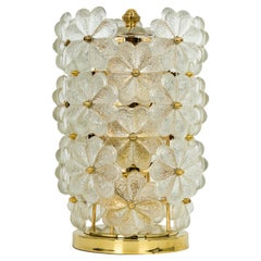 Petite Stunning Murano Glass Flower Table Light by Ernst Palme, Germany, 1970s