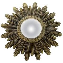 Petite Sunburst Starburst Convex Mirror Composition, German, circa 1960s