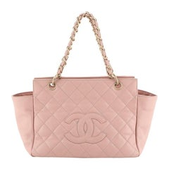Petite Timeless Tote Quilted Caviar