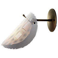 Petite Tulle Wall Sconce in Bronze + White Enamel Mesh, Blueprint Lighting, 2020
