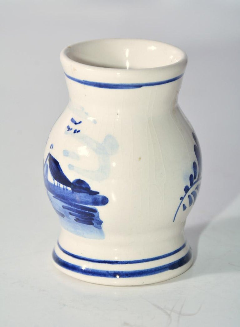 Hand-Crafted Petite Vintage Dutch Vase For Sale
