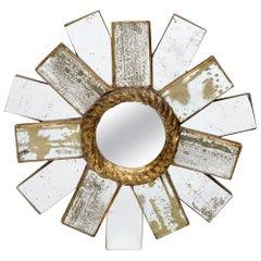 Petite Vintage Sunburst Mirror