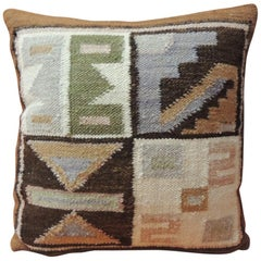 Petite Vintage Woven South American Woven Kilim Decorative Pillow