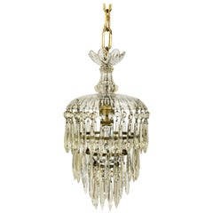 Petite Waterfall Crystal Pendant with Molded Glass
