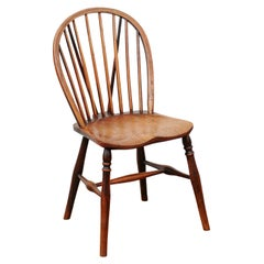 Petite Windsor Side Chair in Oak, England, circa 1890