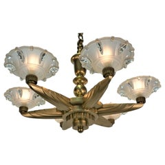 Petitot- Ezan French Art Deco Chandelier
