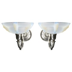 Petitot / Gauthier French Art Deco Wall Sconce Pair, 1930s