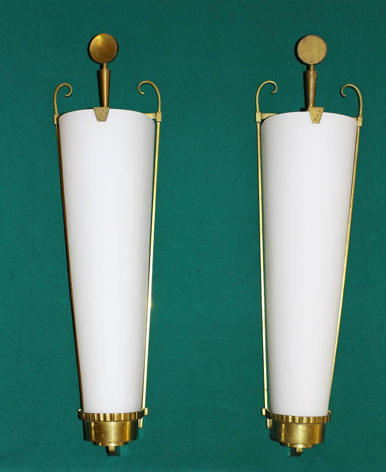 Petitot Important Pair of Sconces 1930 In Excellent Condition For Sale In Encino, CA