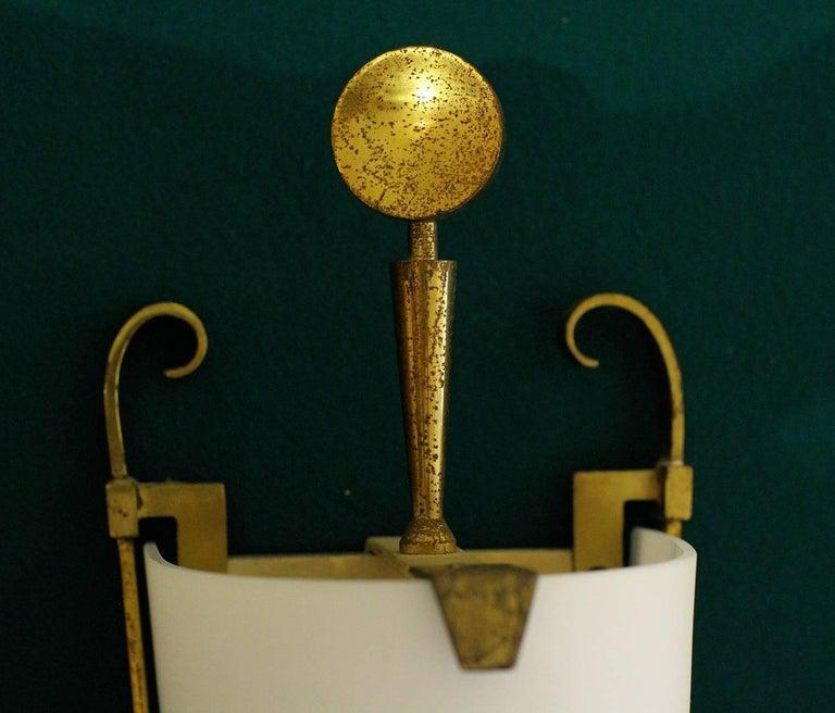 Metal Petitot Important Pair of Sconces 1930 For Sale