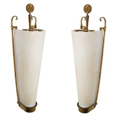 Petitot Important Pair of Sconces 1930