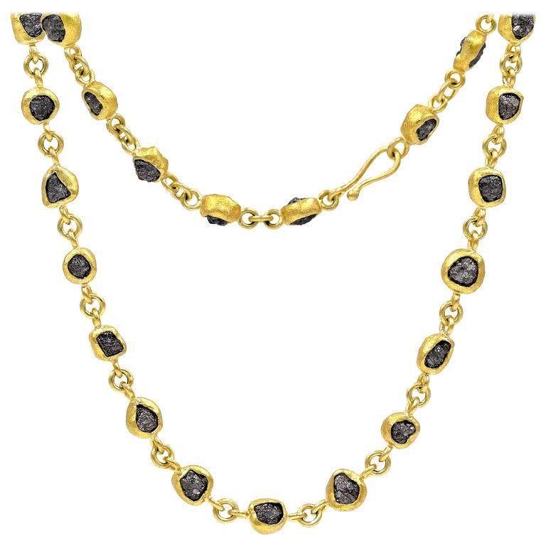 Petra Class 38.0 Carat Diamond High-Karat Gold Handmade Heavy Chain Necklace For Sale