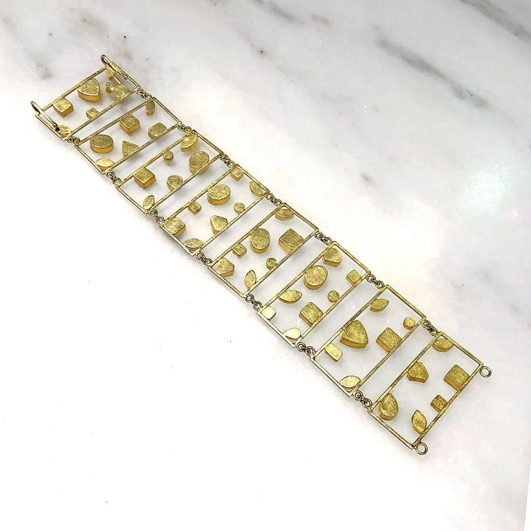 Women's Petra Class Aquamarine Diamond One of a Kind Geometric Ladders Bracelet