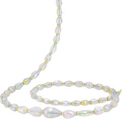 Petra Class Fiery Faceted Opal One-of-a-Kind Segments Necklace