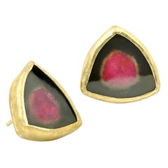 Petra Class One of a Kind Watermelon Tourmaline Stud Earrings