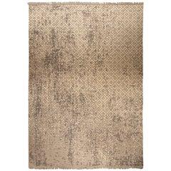 Petra Design Beige Handmade Wool Rug