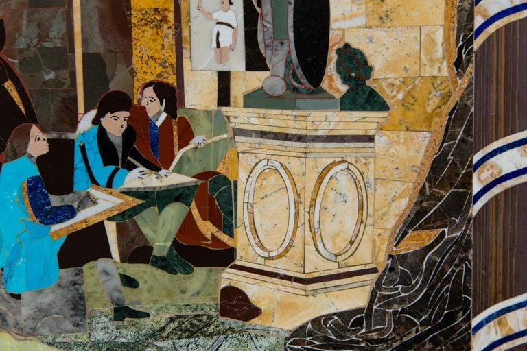20th Century Petra Dura Plaque, The Artist's Studio For Sale