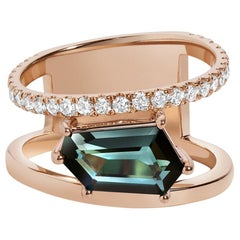 Petra Ring, Tourmaline and Diamond Ring in Rose Gold