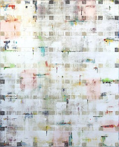 """""""Beauty White II"""" - Large Contemporary Oil Artwork"""