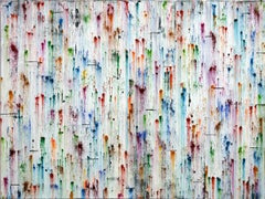 Rainbow Pigments by Petra Rös-Nickel - Contemporary multi color oil painting