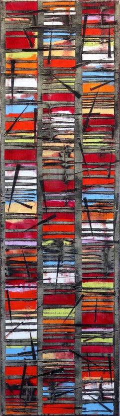 Stripes Happy - Contemporary Artwork