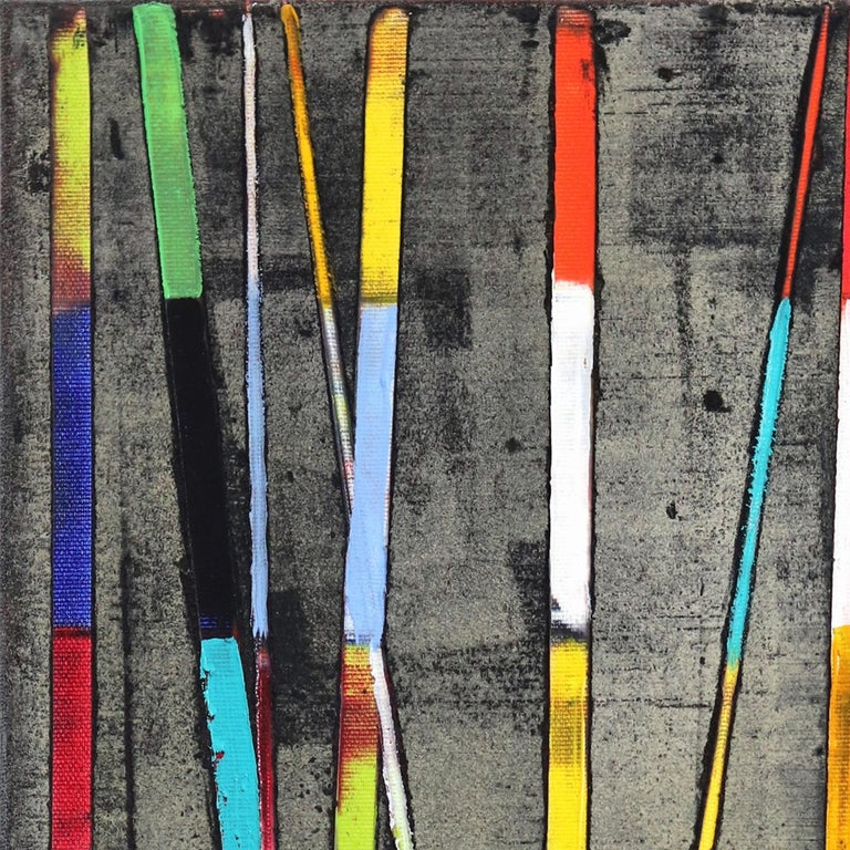 Stripes Mikado - Abstract Painting by Petra Rös-Nickel