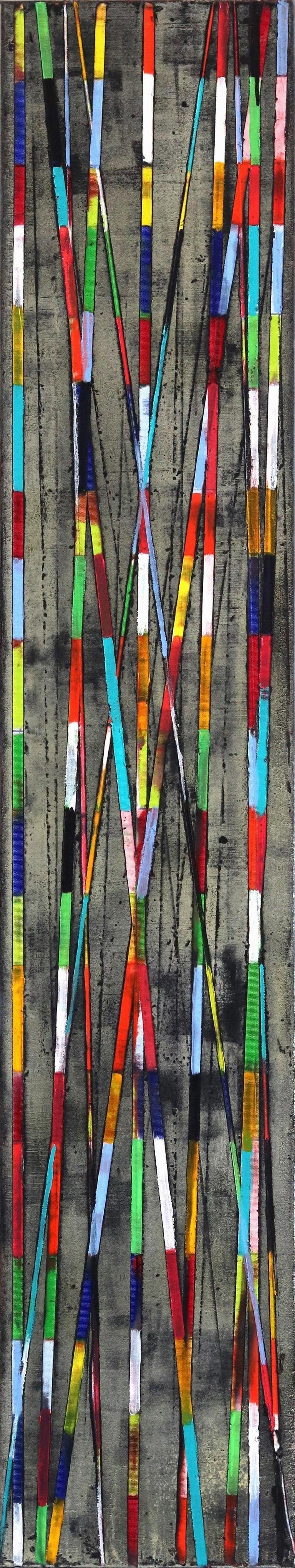 Petra Rös-Nickel Abstract Painting - Stripes Mikado