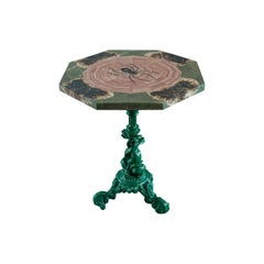 Petrified Spider Table, English, Marble, Pietra Dura, Cast Iron, Dominic Hurley