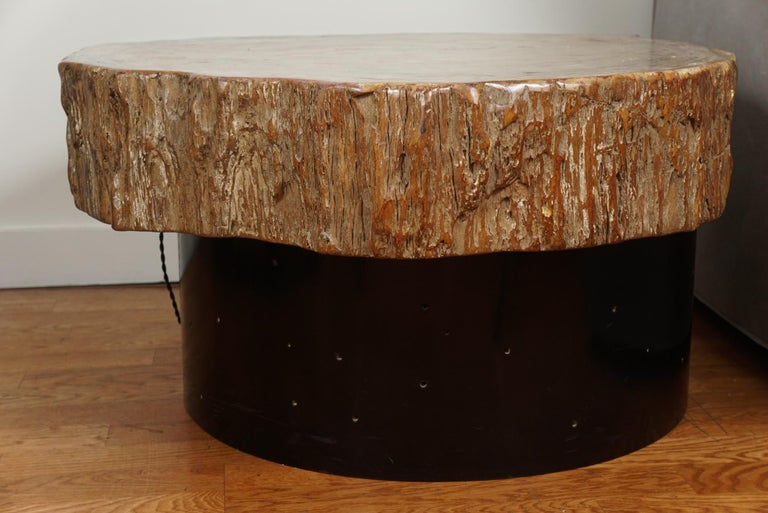 20th Century Petrified Wood Cocktail Table in the Style of Ado Chale For Sale