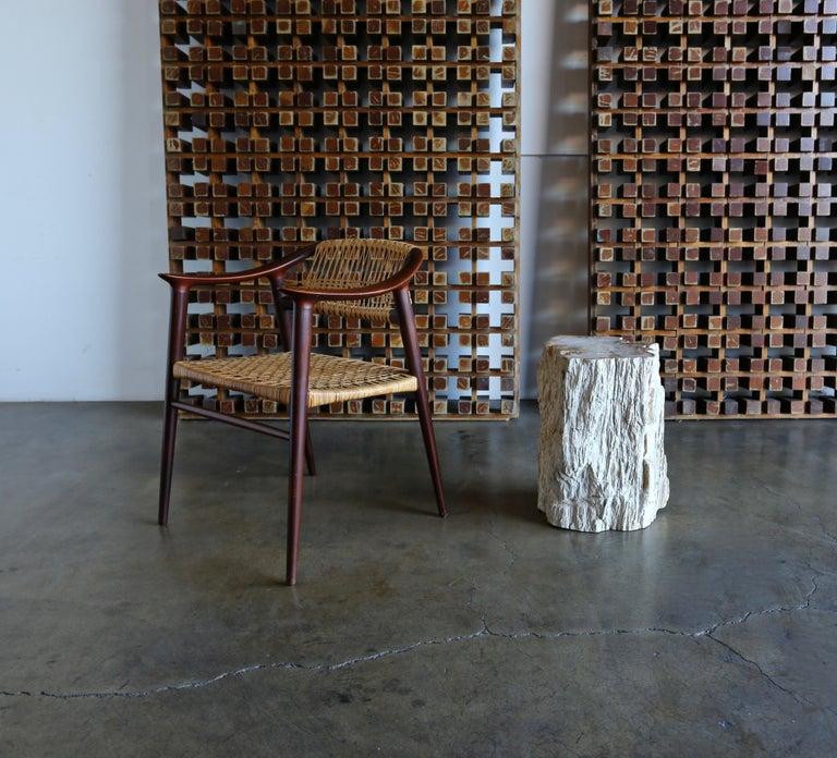 Petrified Wood Side Table 1