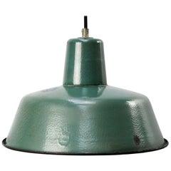 Petrol Enamel Vintage Industrial Pendant Light