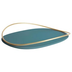 Petrol Green Touché D Tray by Martina Bartoli