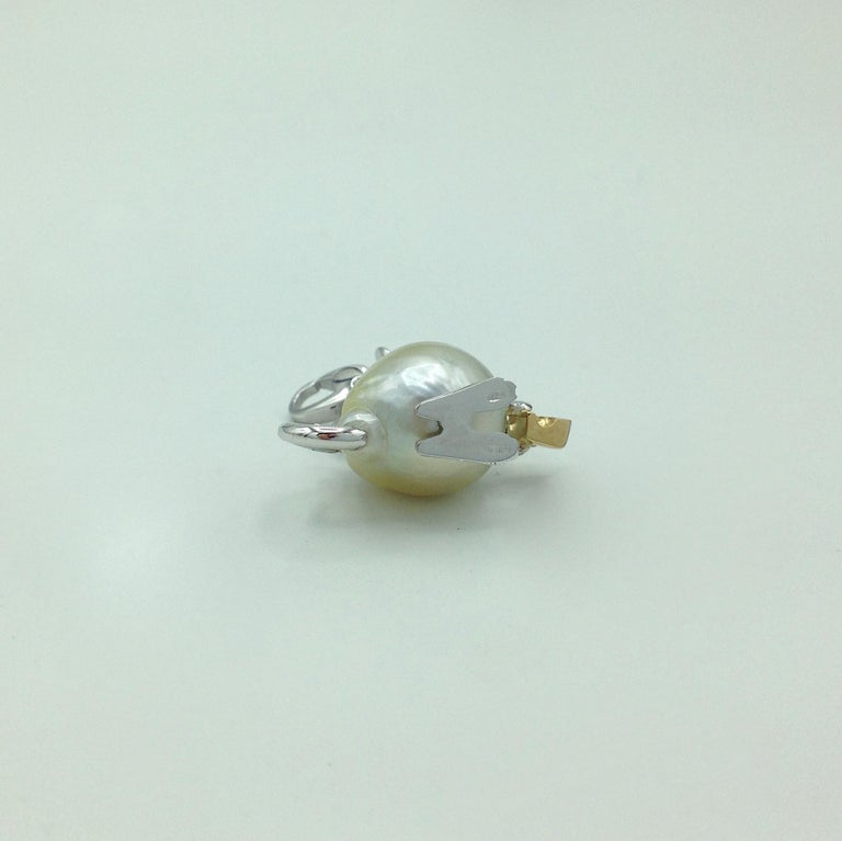 Diamond 18 Karat Gold Pear Mouse Pendant/Necklace or Charm Made in Italy 4