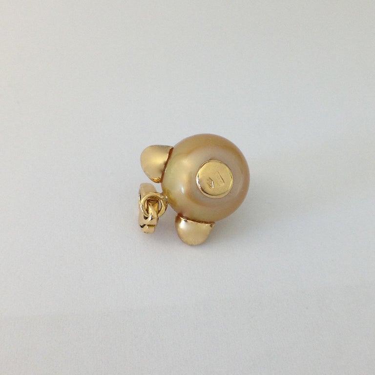 Teddy Bear Black Diamond 18 Karat Gold Charm or Pendant Necklace For Sale 5