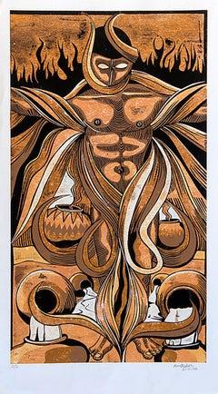 Life change, Petrus Amuthenu, Cardboard print on paper