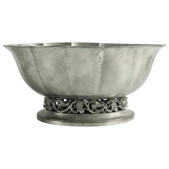 Pewter Art Deco Style Footed Bowl by Just Andersen