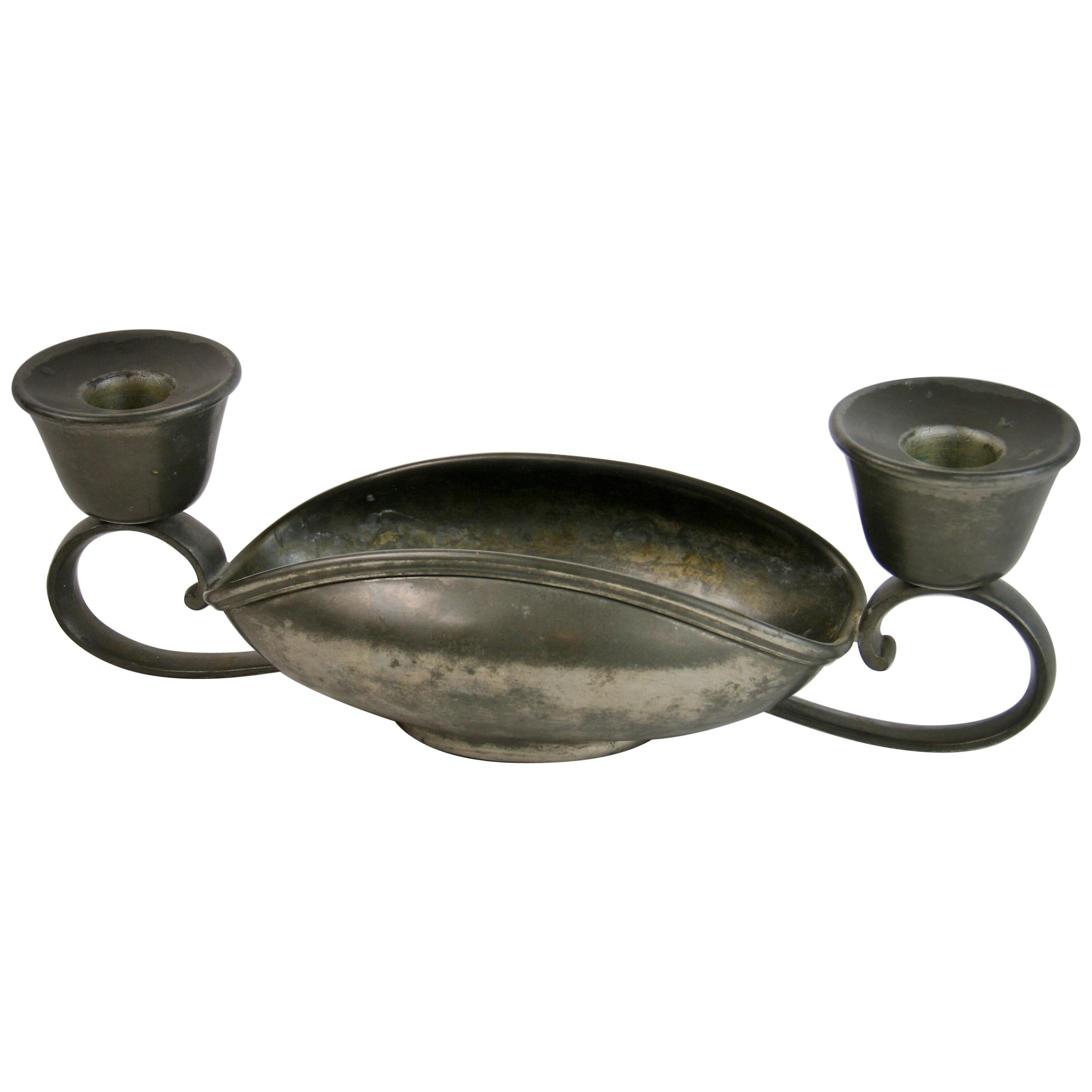 Pewter Candleholder by Rice Pewter